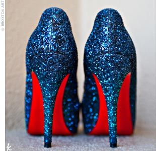 blue glit plus red soles