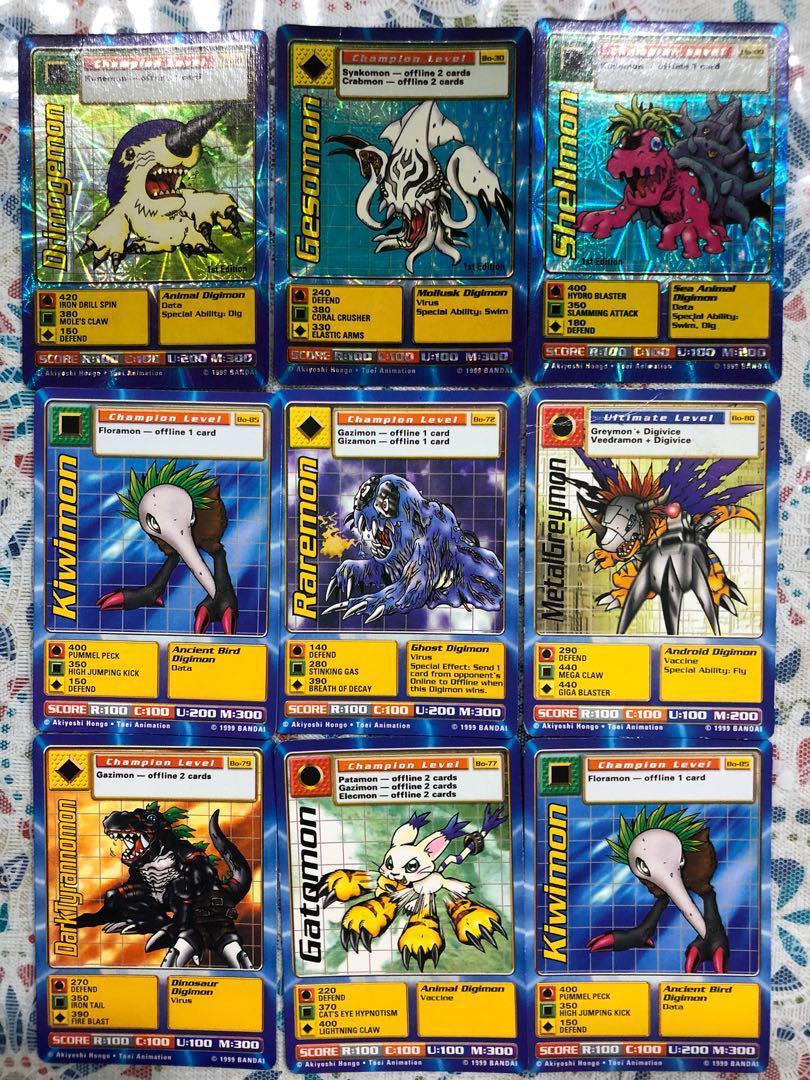 Retro Digimon Collectible Cards Collectible Cards Digimon Cards