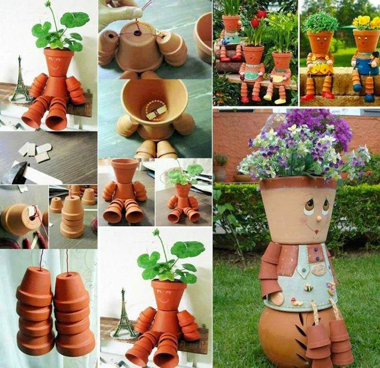 Decorare Vasi Di Terracotta.Decorazioni Da Giardino Con Vasi Di Terracotta Progetti Da Provare