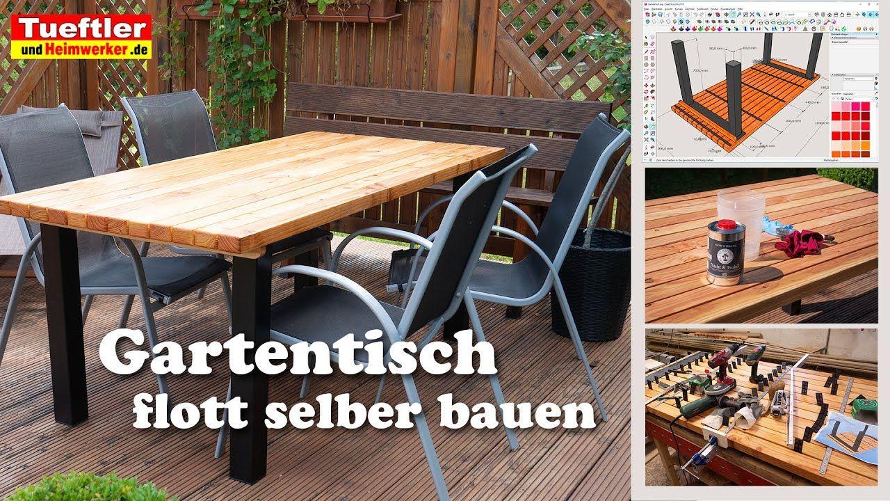 Gartentisch Selbst Bauen Wetterfest Modern Tuftler Diy Gartentisch Gartentisch Selber Bauen Gartentisch Holz