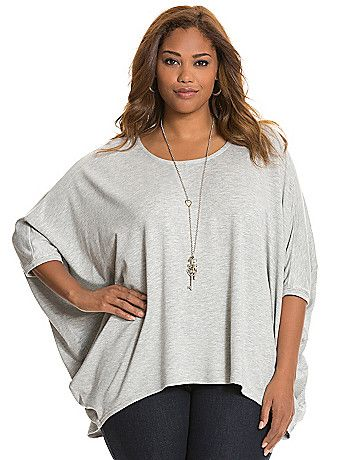 A sophisticated cocoon silhouette with a boat neck and high-low hem remakes the comfy-classic French terry top into an instant favorite. As soft as your favorite sweatshirt, this cozy piece begs to be worn with your favorite slim-fitting bottoms for an on-trend combo. lanebryant.com