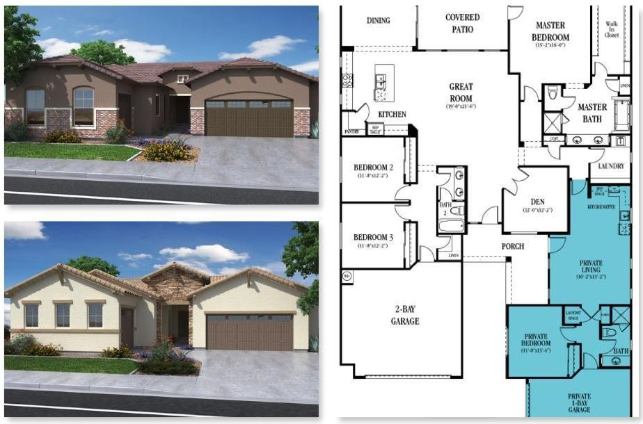 Lennar Homes Floorplan Layout Has Private Mother In Law
