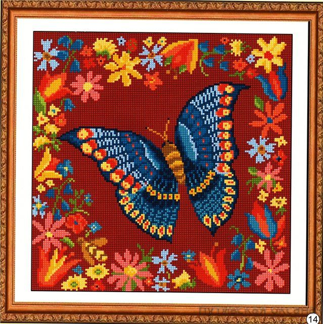 borboleta fundo vermelho