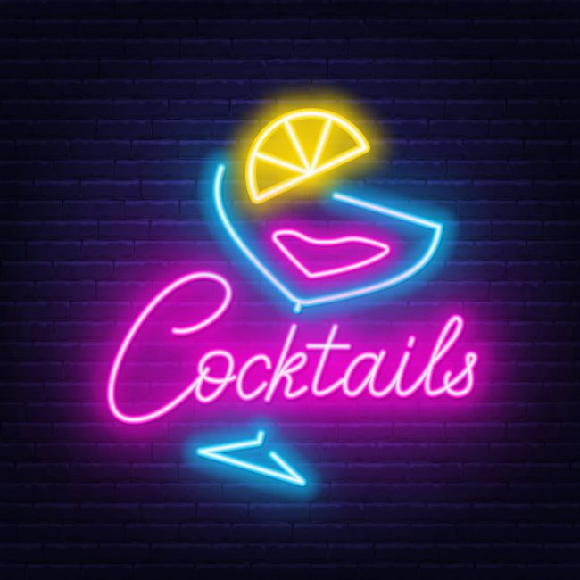 Cocktails Bar Led Neon Sign In 2020 Neon Signs Cocktail Bar Design Custom Neon Signs