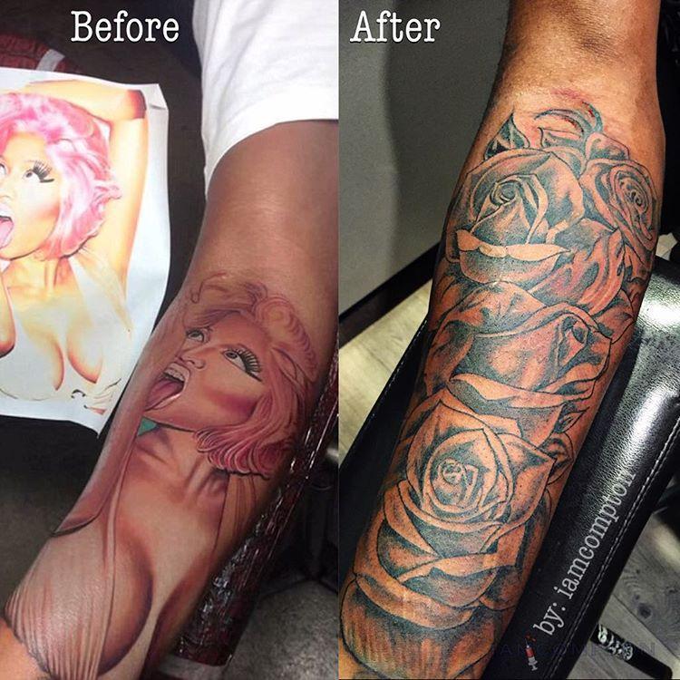 Cardi B Tattoos Arm: Samuels Finally Covers Up Nicki Minaj Tribute Tattoo On