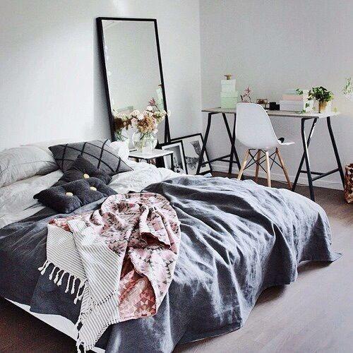 Image De Bedroom Room And Bed Charcoal BedroomCosy Grey BedroomMessy