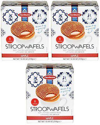 Daelman's Maple Stroopwafels Pack of 3 (10.94 Ounce)