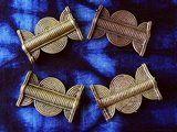 4 perles Baoulé laiton
