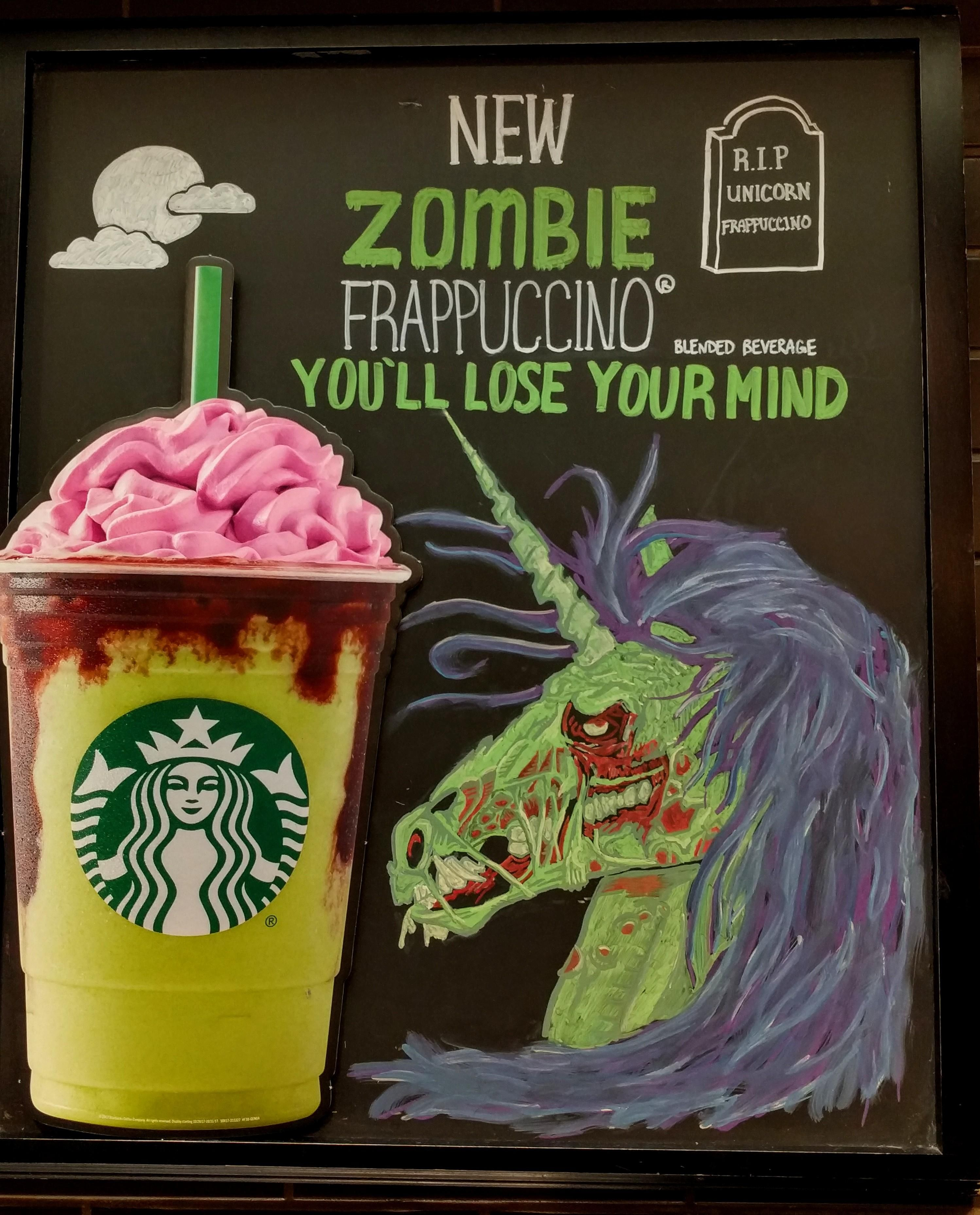 Zombie Unicorns Have Come Back For Revenge. #starbucks