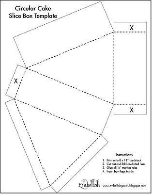 Single Slice Box Template download Templates Box template