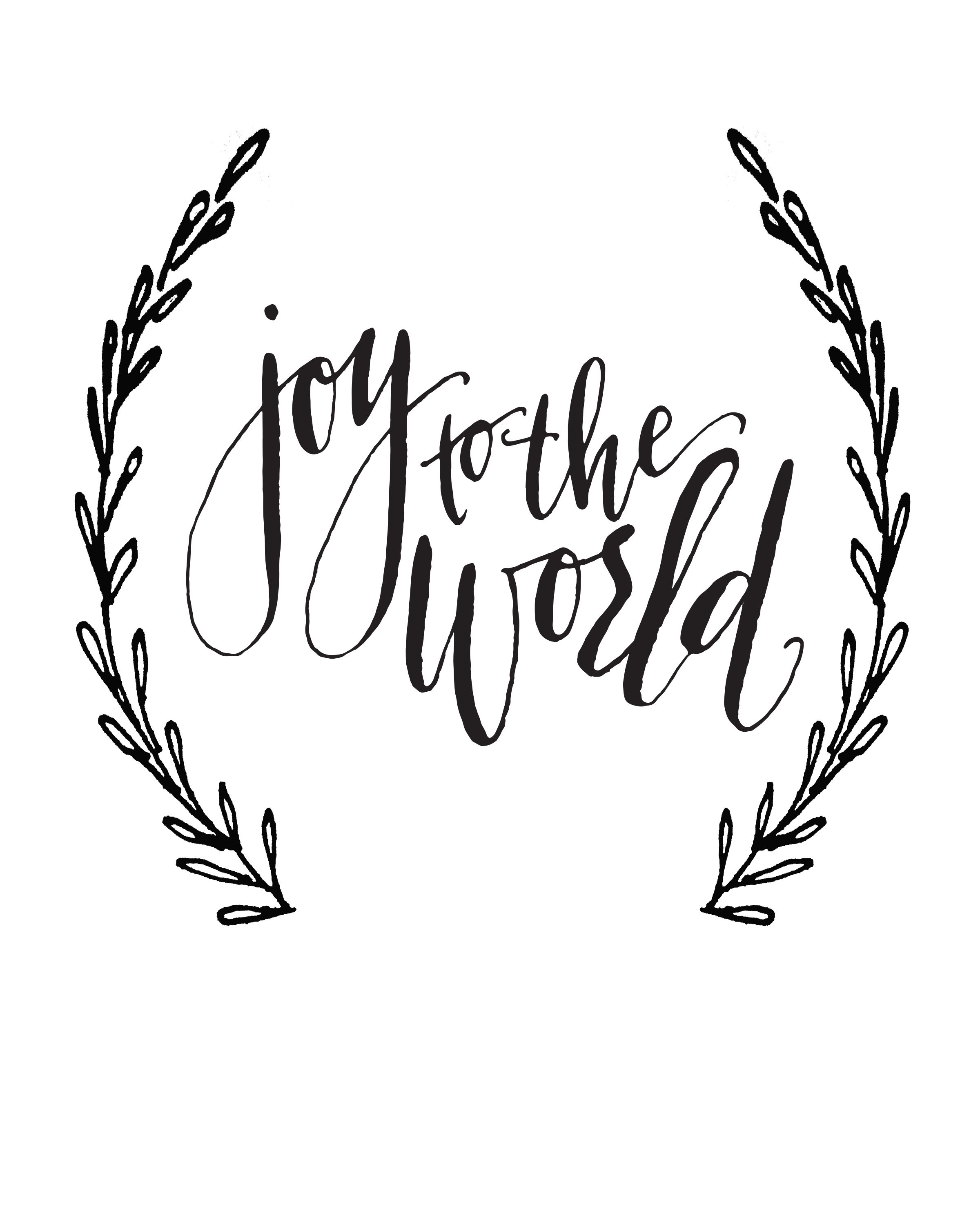 Joy To The World Calligraphy Print