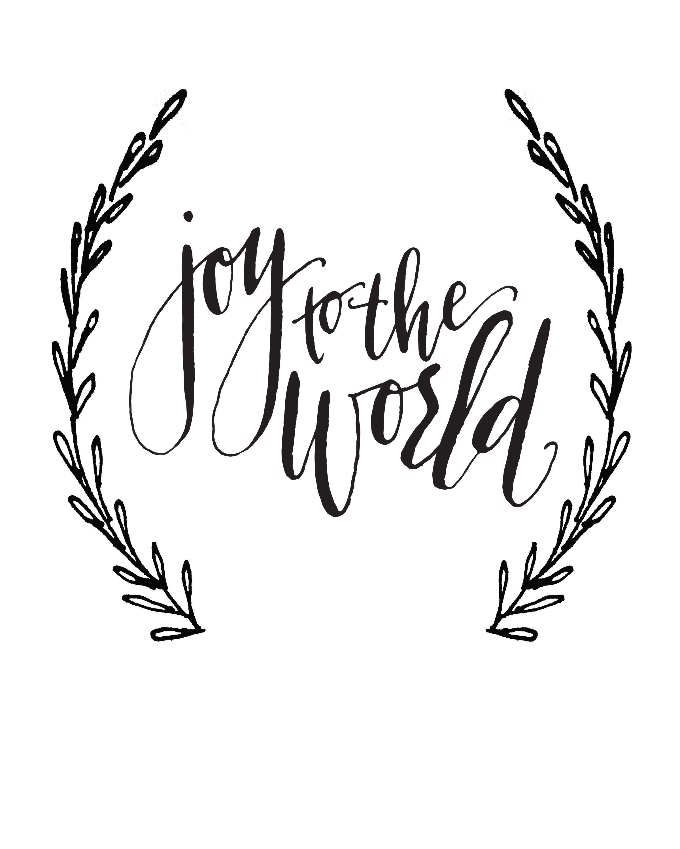 Joy To The World Calligraphy Print