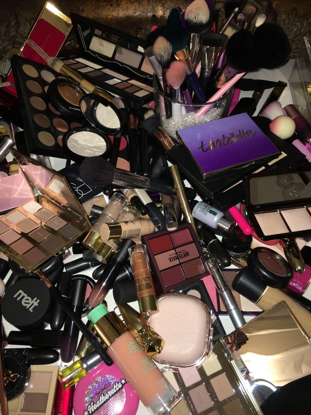 Makeup Pile Makeup organization, Airbrush makeup, Makeup