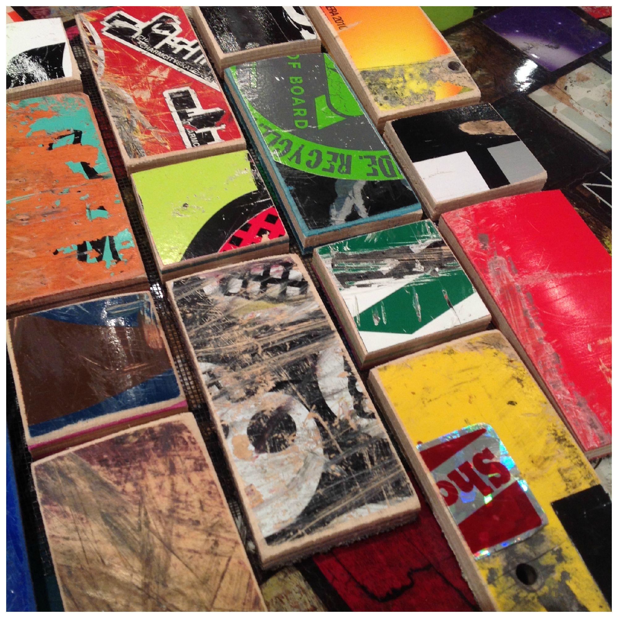 Diy Skateboard Design: Tiles Made Out Of Recycled Skateboards