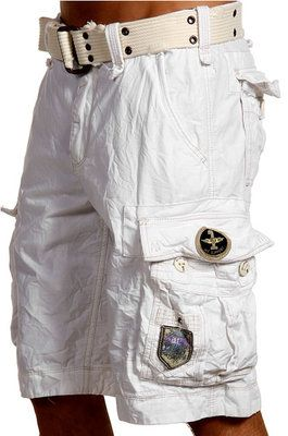 91bfbe96dca3 Jet Lag Mens Cargo Shorts Otto Stone White with Removable Belt New Jetlag