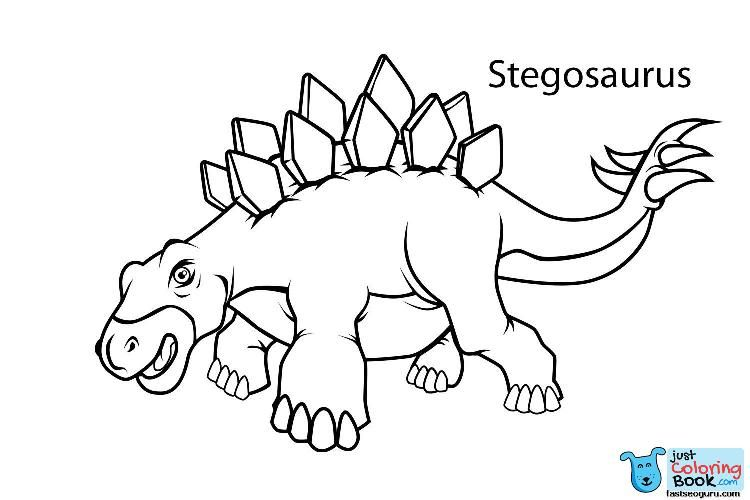 Printable Dinosaur Coloring Pages With Names Dinosaurs For Cael Regarding Stegosaurus Dino Color Dinosaur Coloring Pages Name Coloring Pages Dinosaur Coloring