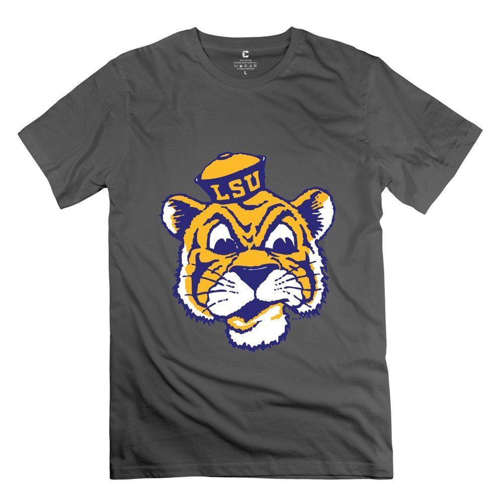 d3227f100f35f RIen Men s NCAA LSU Tigers Football Team Logo T-Shirt XL