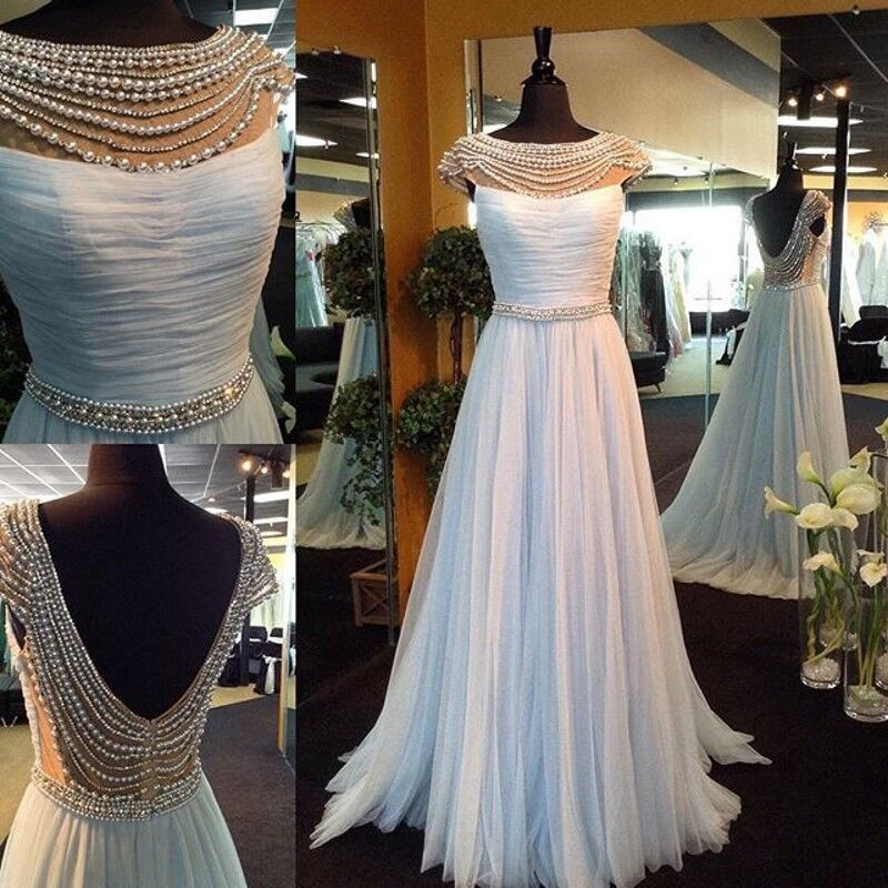 Buy Hot-Selling Floor Length Prom Dress - White Chiffon Scoop with Beading Prom Dresses 2016 under $159.99 only in Dressywomen.