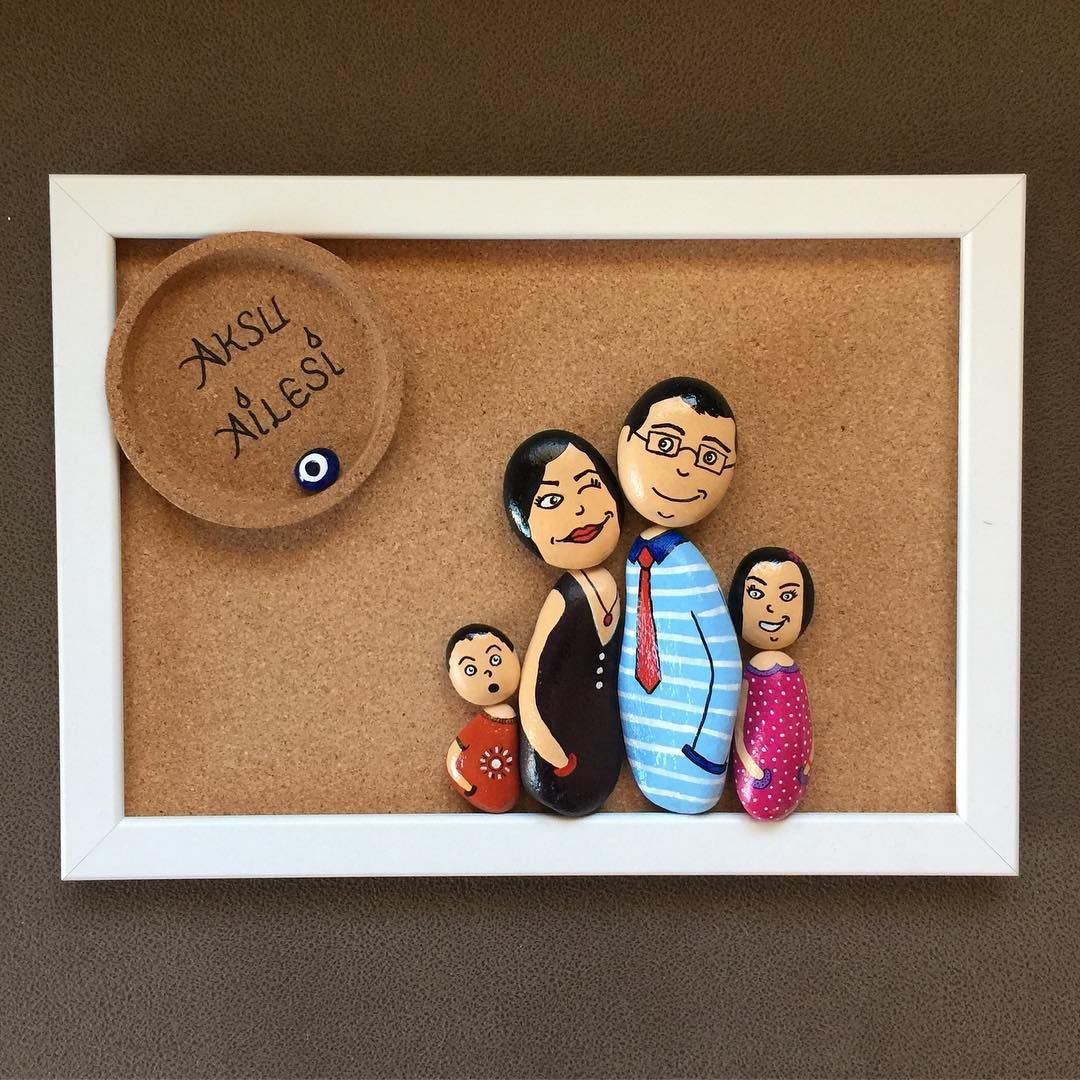 "118 Likes, 10 Comments - Dİ&CE Art (@nudiart2016) on Instagram: ""Nu&Di Art. Sevimli Aile 35x25 cm Sevgili dostlarımız Aksu ailesinin figürlerini büyük bir keyifle…"""