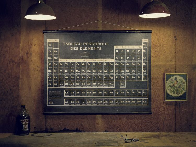French Periodic Table of Elements from Sideshow Sign Co For Walls - best of periodic table zr