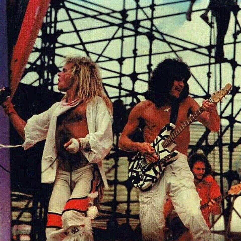 Van Halen Opening For The Rolling Stones Evh Eddievanhalen Alexvanhalen Diamonddave Davidleeroth Michaelantho Van Halen Eddie Van Halen David Lee Roth