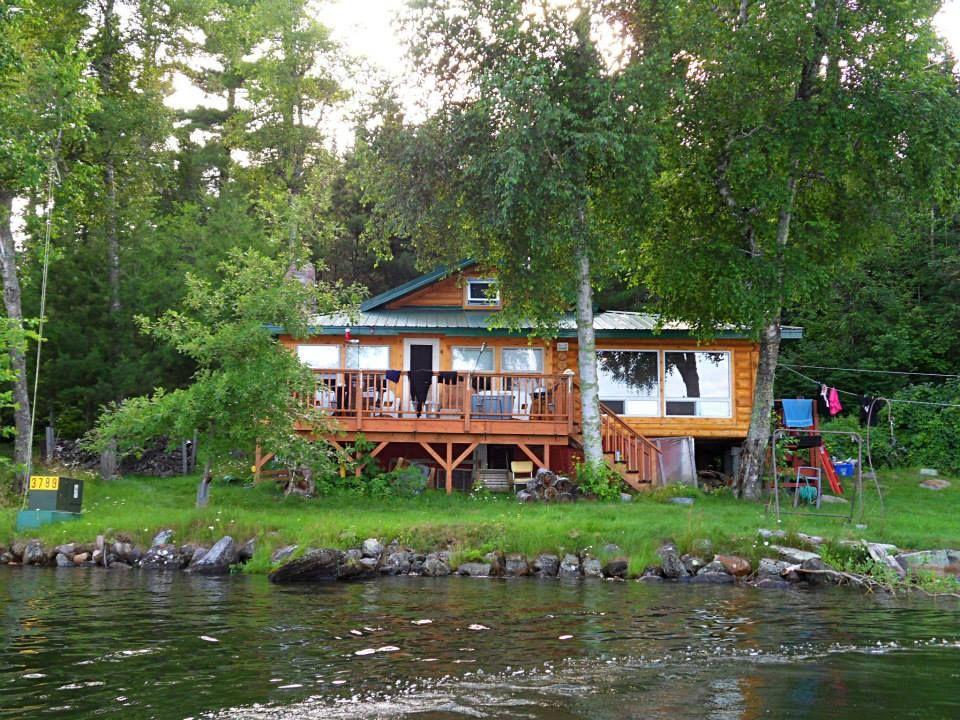Cabin On Clearwater Lake (Burditt Lake), Emo, Ontario, Canada.