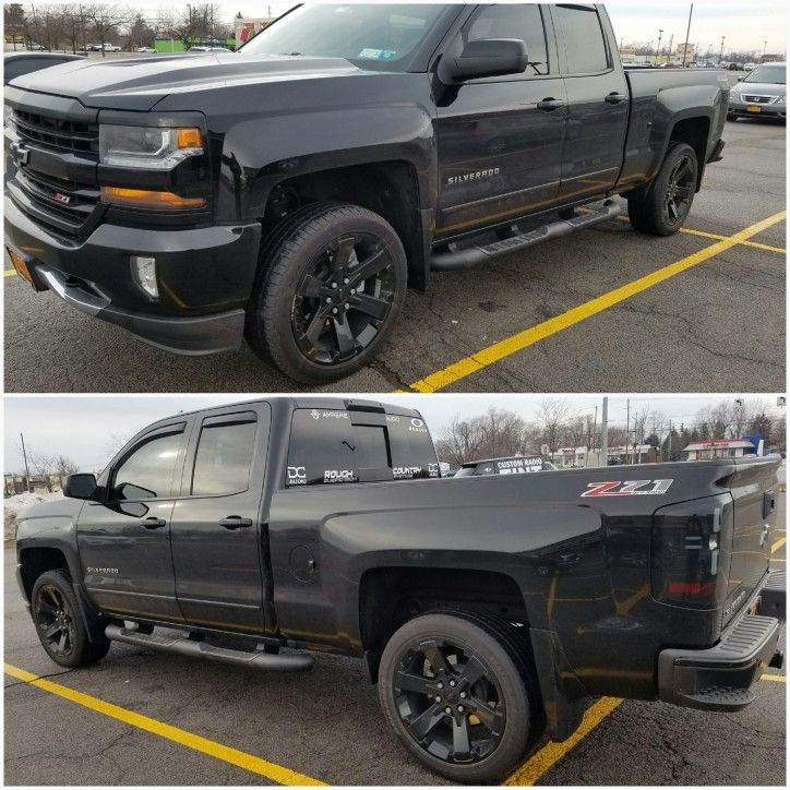 Blackout Chevy Silverado >> 2016 Silverado Z71 Leveled Blackout Stuff 2016 Silverado