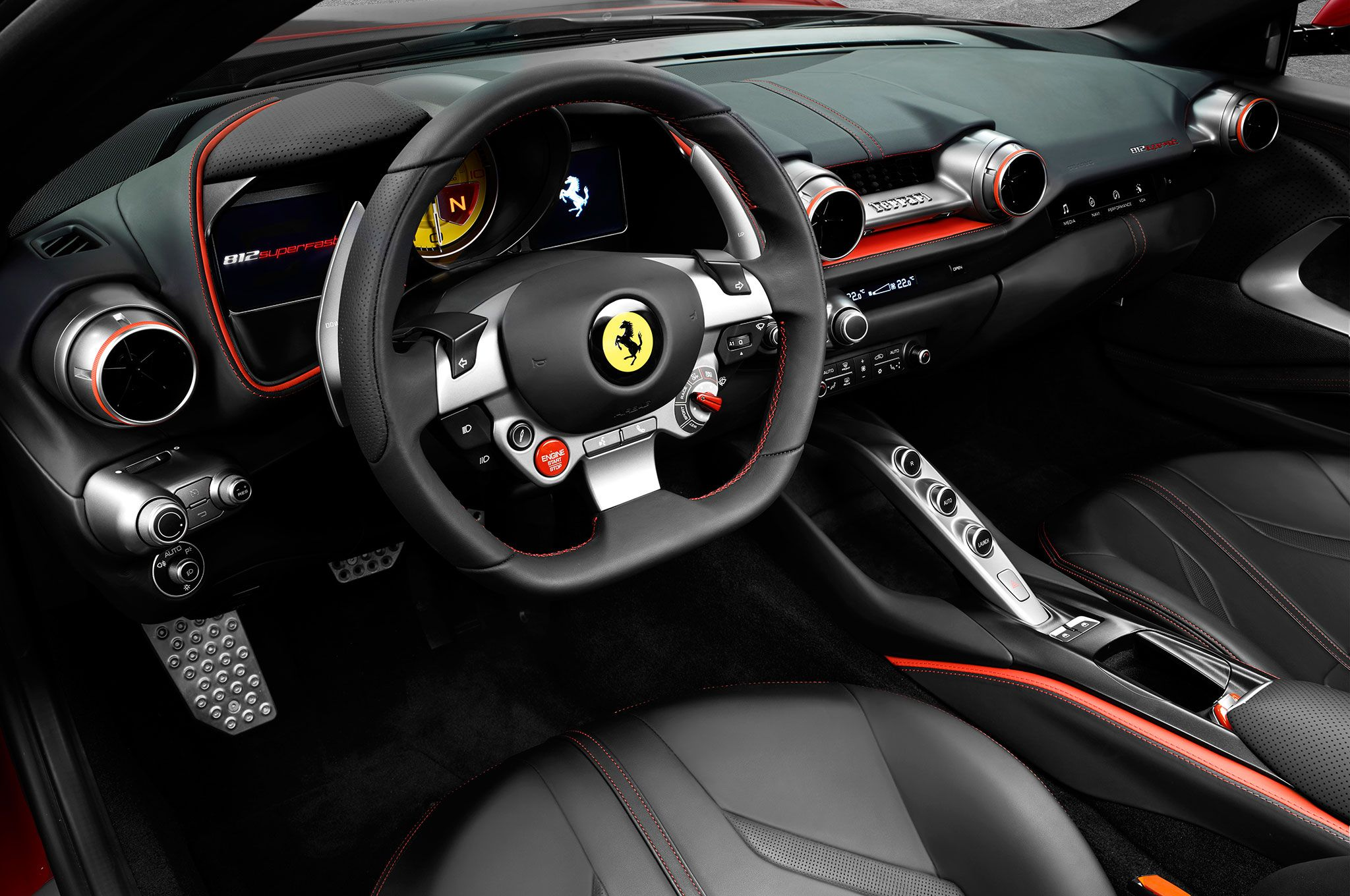 The Ferrari 812 Superfast Boasts The Prancing Horse Brand S Most