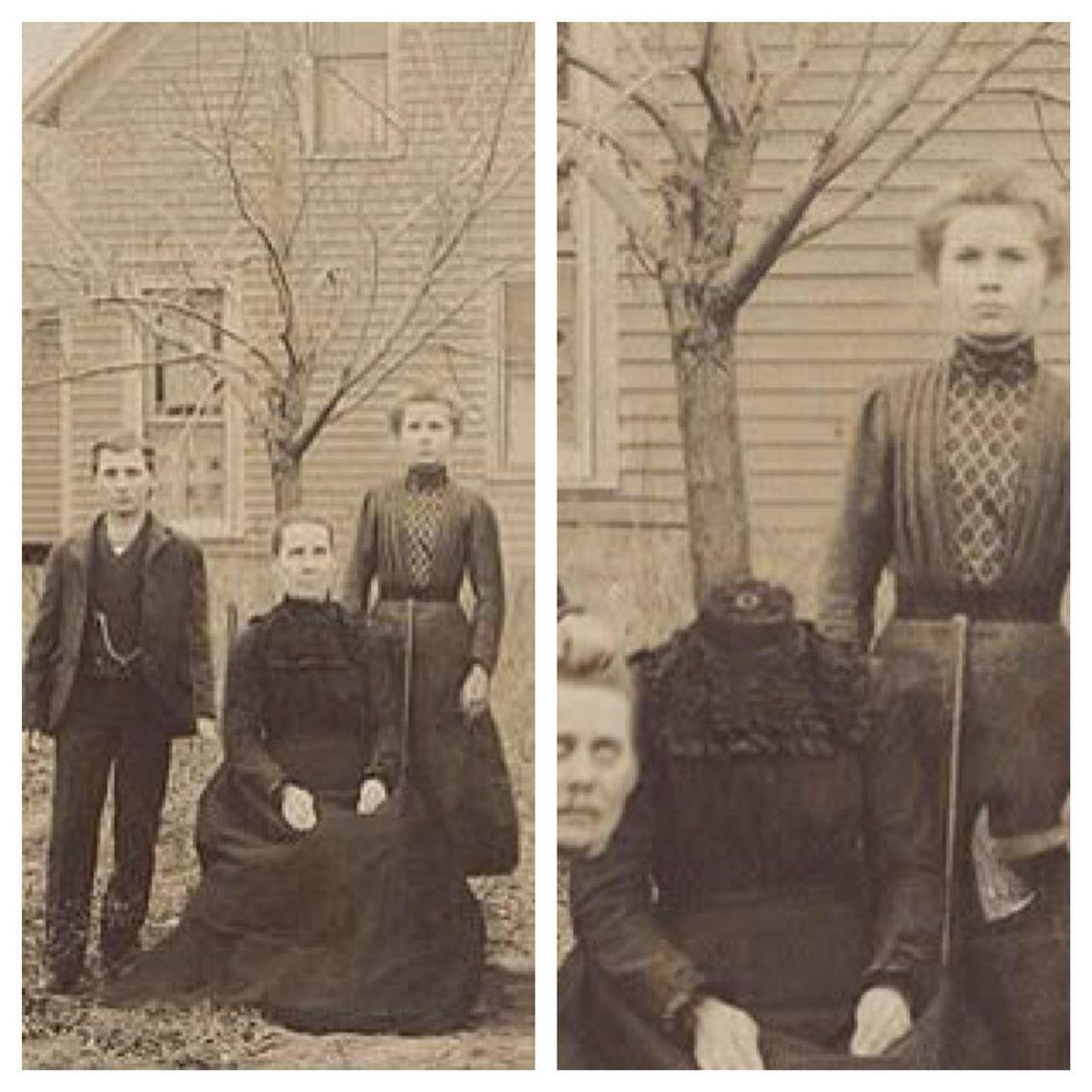Buckley Family Halloween Beheading : the original. The photograph ...