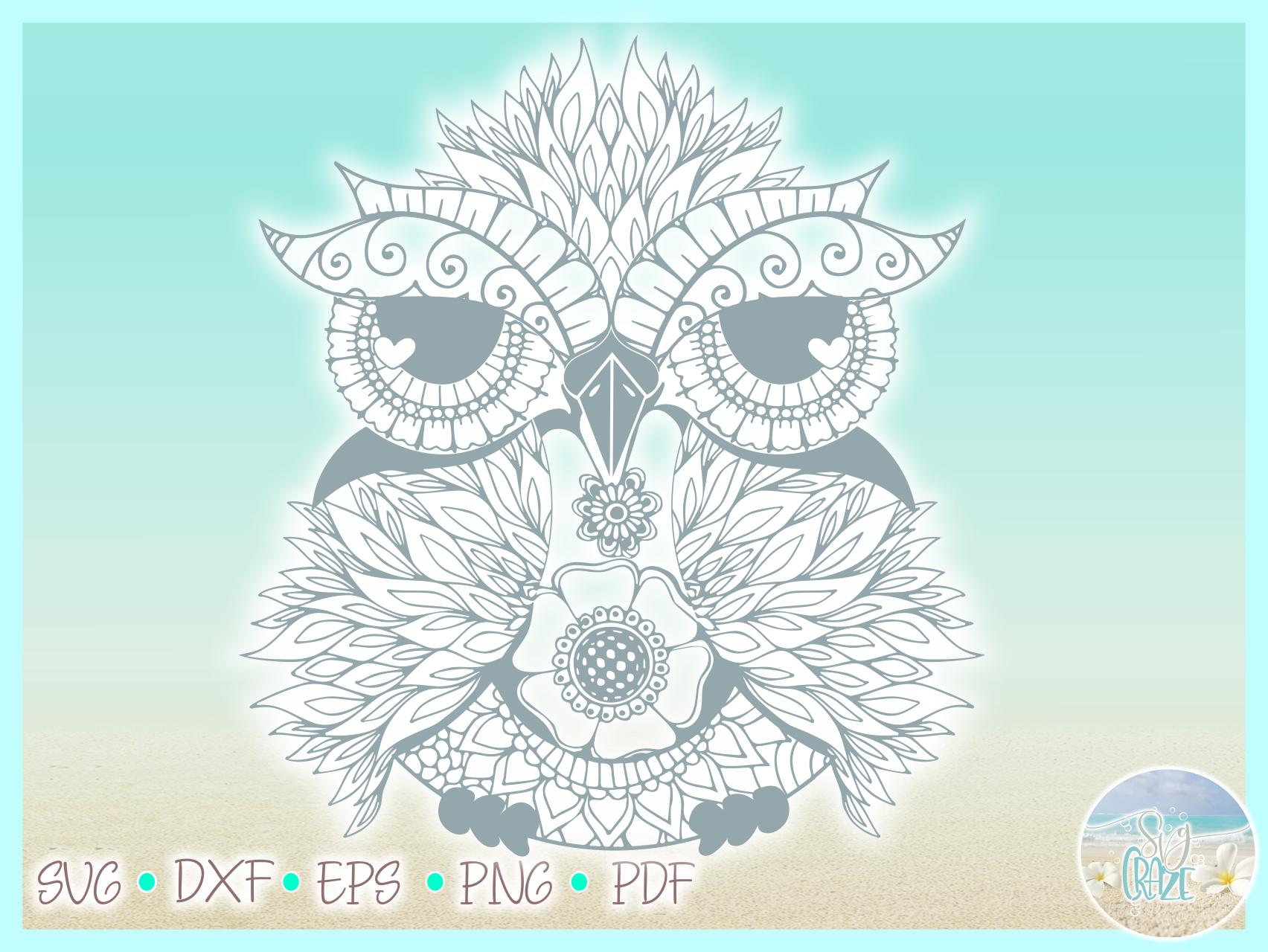 Owl Mandala Zentangle Svg