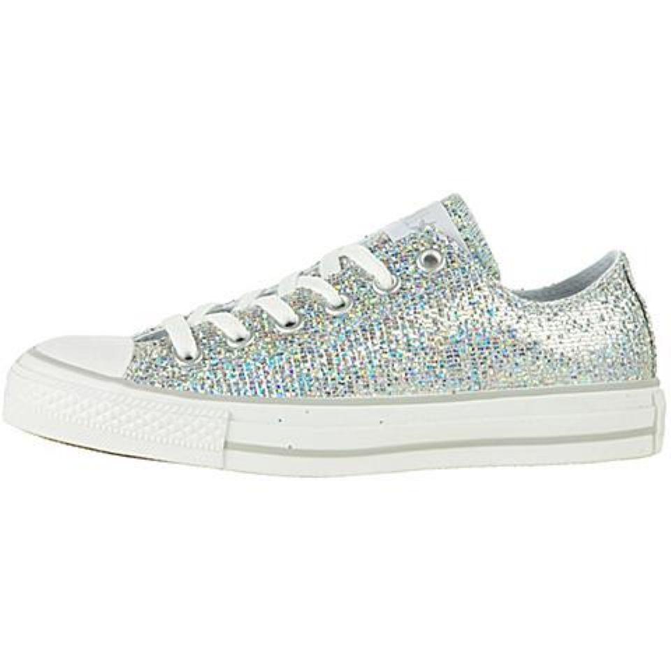 converse silver sparkle