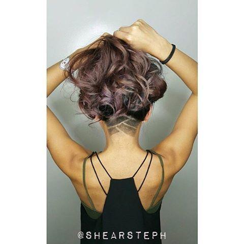Stunning Wavy Long Hair & Cool Undercut Thanks @shearsteph #UCFeed #Undercut #Undercuts #ShavedNape ...