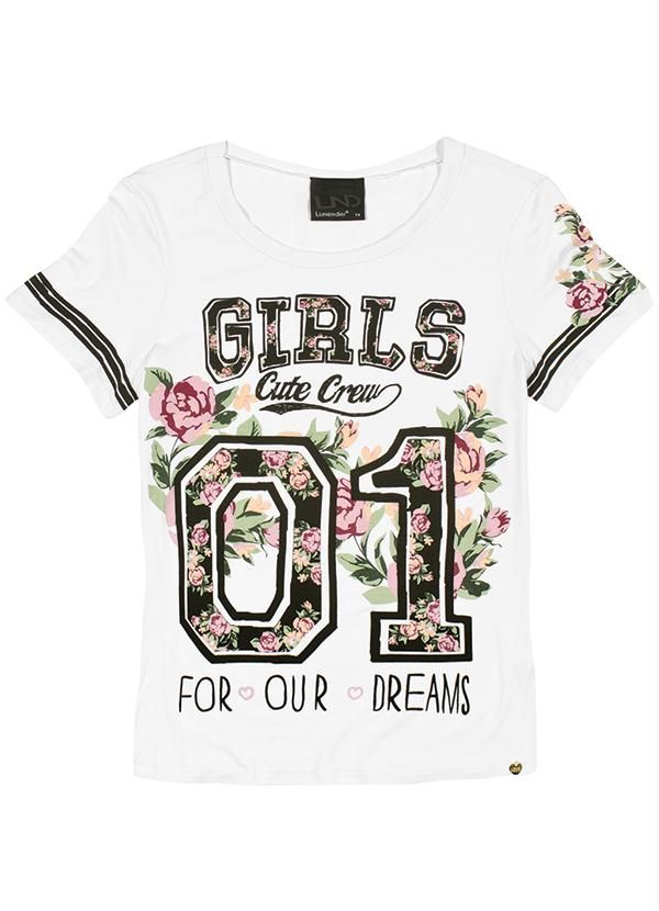 T-Shirt Feminina Lunender Hits Branco - Posthaus   leilane 2c9f05a2aa