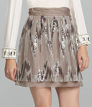 Antonio Melani Della SequinEmbellished Skirt