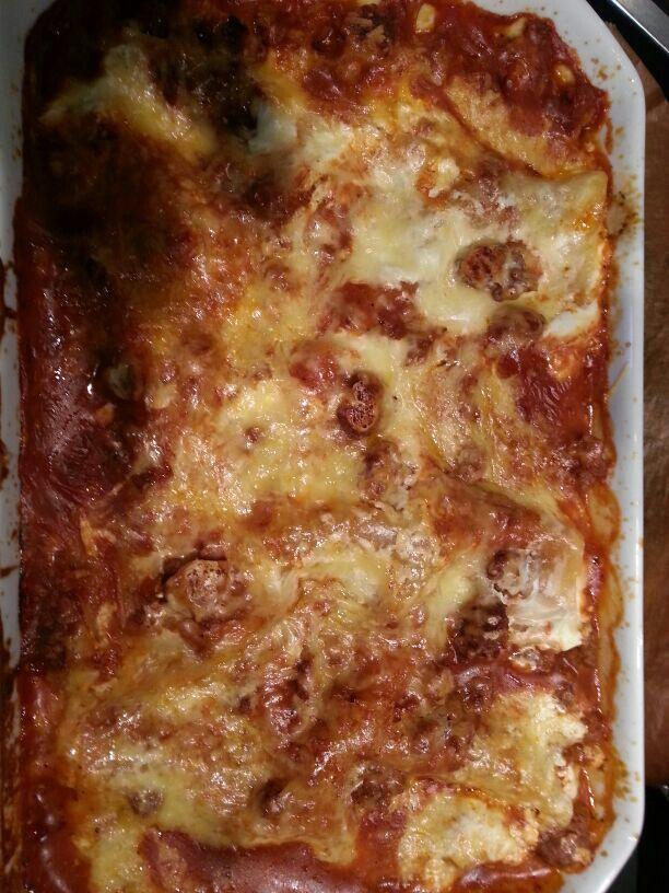 Mama's lecker Lasagne.