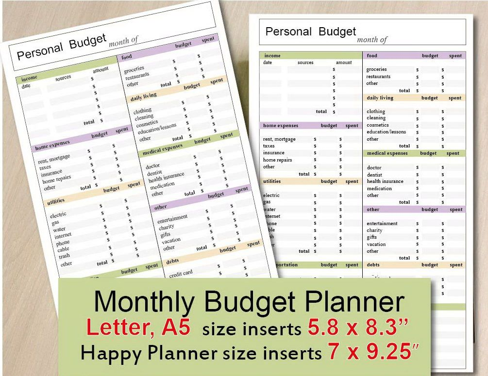 graphic regarding Happy Planner Budget Printable known as Printable Price range Sheet, delighted planner funds increase, regular