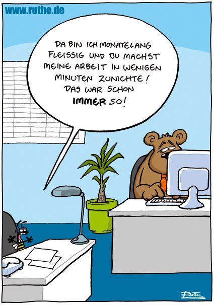 Lustige Cartoons Arbeit