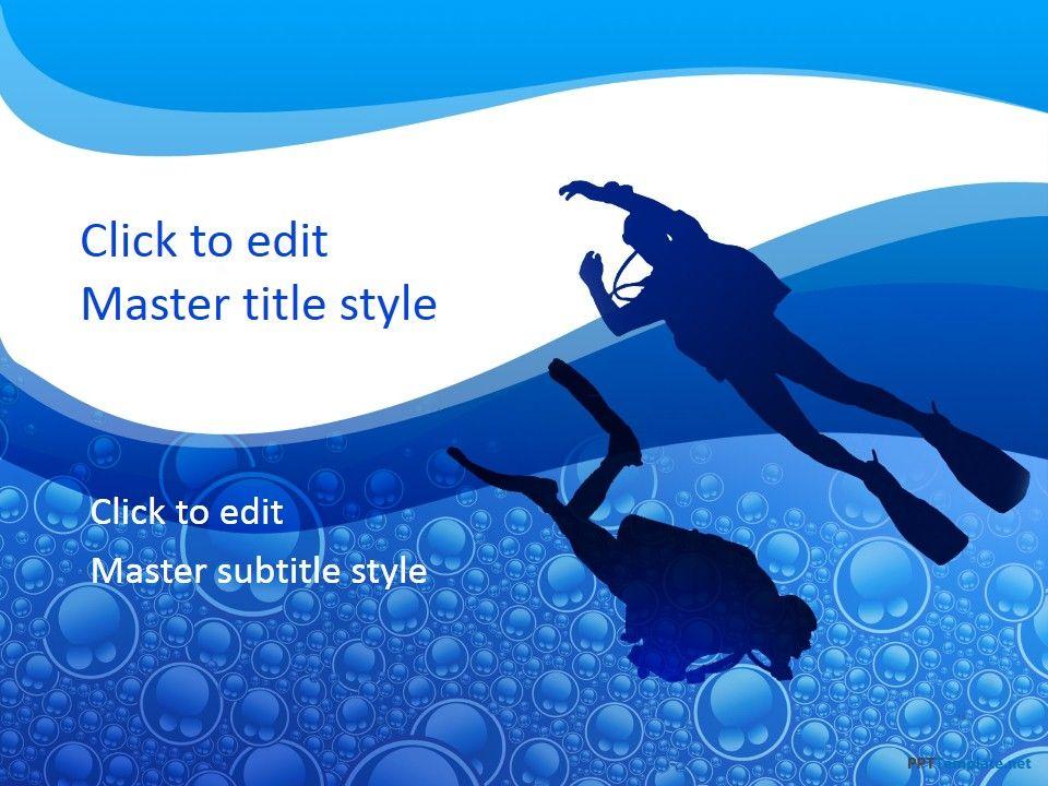 Blue Ocean Strategy Powerpoint Template Slidemodelocean Scenery