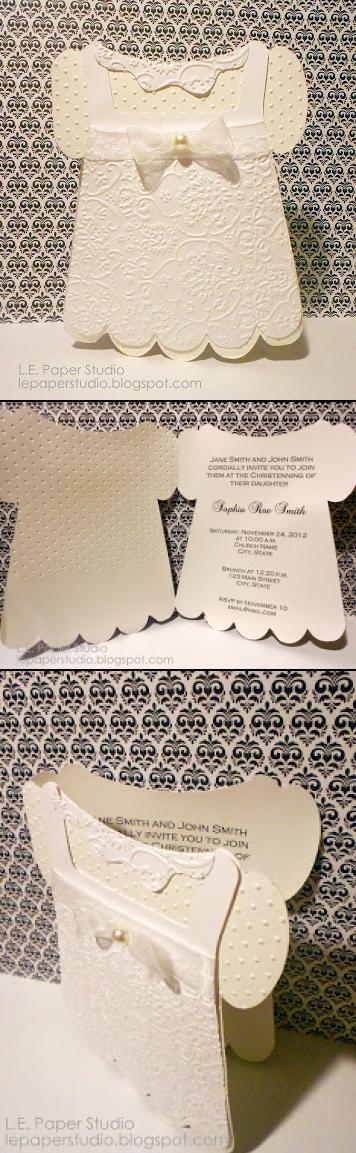 l e paper studio tuesdays print and cut free baptism invitation