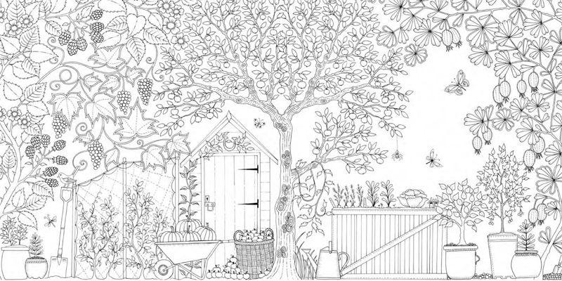 Garten Malbuch Secret Garden Coloring Book Ausmalen Ausmalbilder
