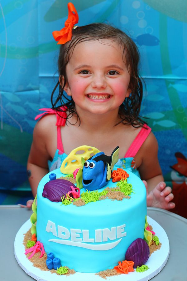 Finding Dory Cake Party Pinterest Dory cake Finding dory