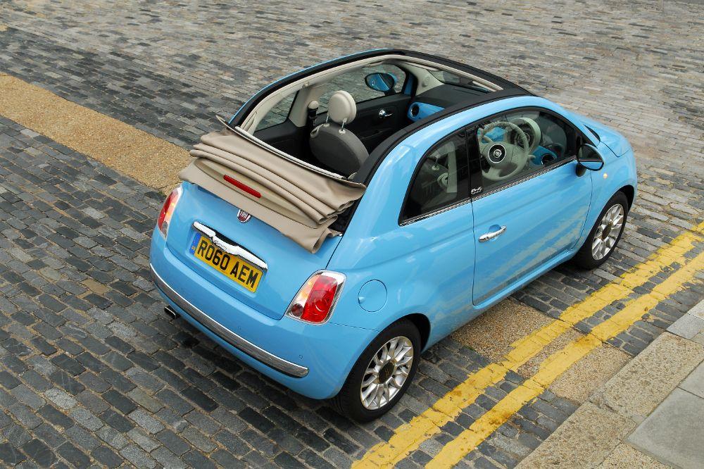 Brilliant Billedresultat For Fiat 500 Blue Convertible  Fiat 500
