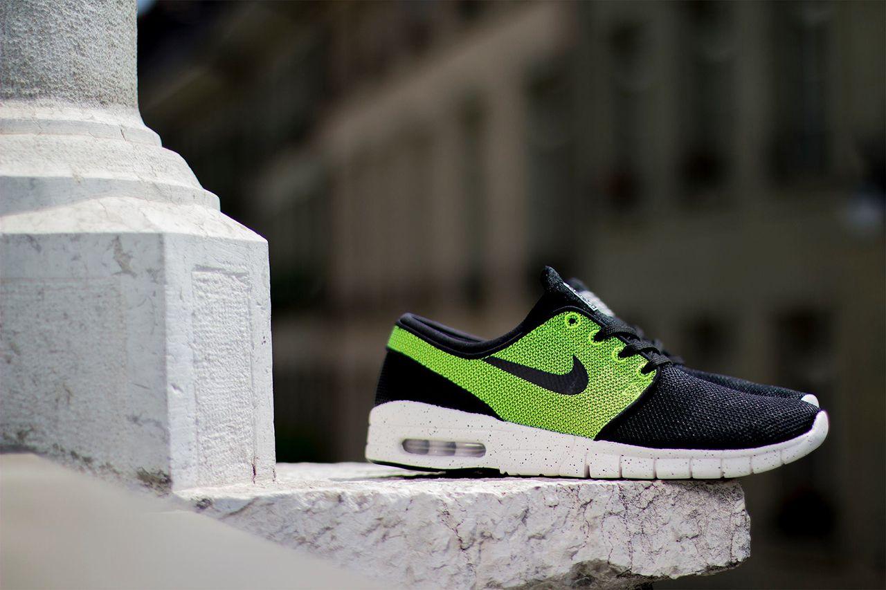 competitive price a6cbf afa9e Nike SB Stefan Janoski Max Black Black-Volt-Ivory