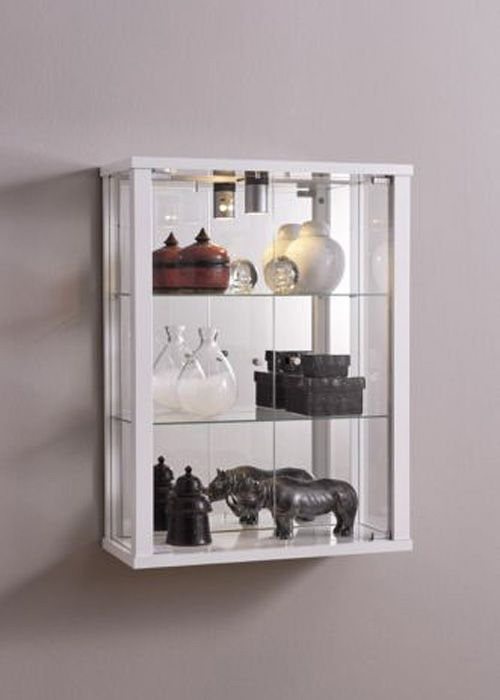 Wall Mounted Glass Display Cabinet White Wall Mount Display Cases