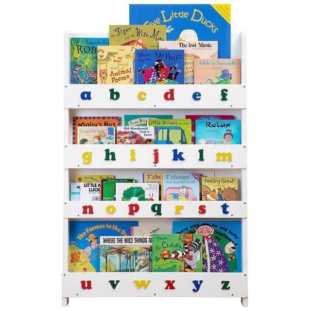 BuyTidy Books ABC Bookcase, White Online at johnlewis.com