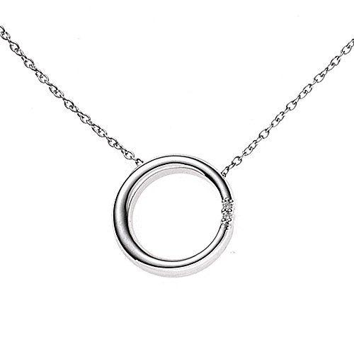 Damen-Collier 2 Diamant-Brillanten Silber 0.02 ct. 45 cm 16.1 mm Karabinerverschluss Dreambase http://www.amazon.de/dp/B00N5BGOS8/ref=cm_sw_r_pi_dp_jfEdub1HTN3FF