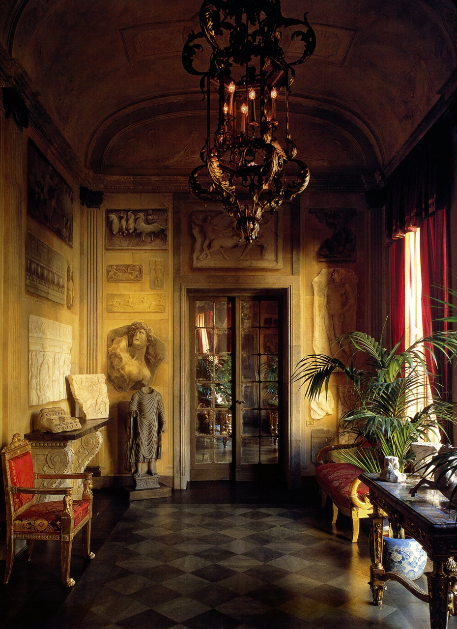 """1900's - """"STUDIO PEREGALLI, The Invention of the past, Belle Epoque Entrance Hall, Millan, Italy  """""""