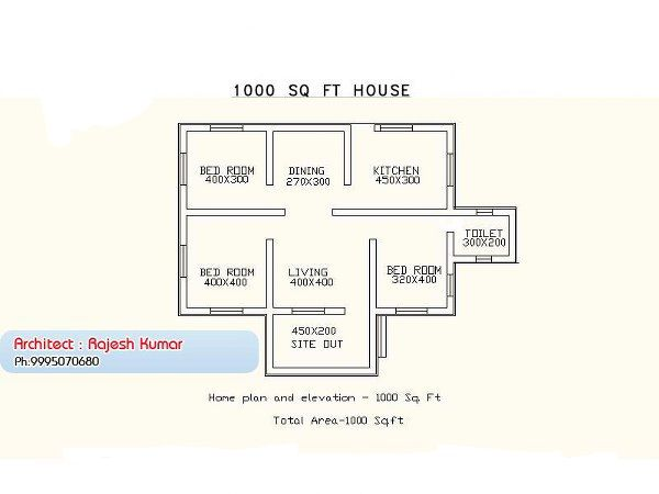 Three Bedrooms In 1200 Square Feet Kerala House Plan Architecture Kerala New House Plans House Plans With Photos 1000 Sq Ft House