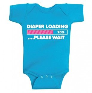 Diaper Loading Bodysuit #onesie - David and Goliath