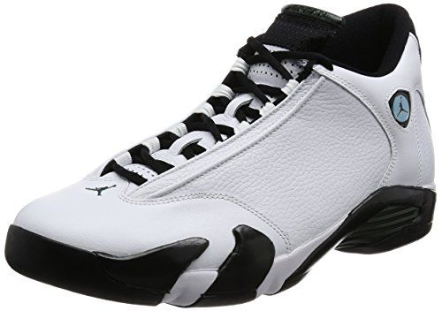 innovative design 5d003 2ab4f Air Jordan 14 Retro Mens Shoes WhiteBlackGreenLegend Blue 487471106 12 DM  US    Read more reviews of the product by visiting the link on the image.